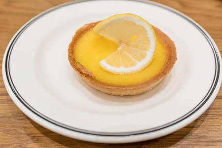custard slice: lemon tart