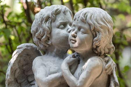 天使彫刻 写真素材