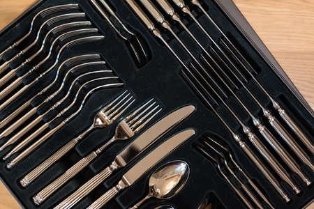 silverware set Stock Photo