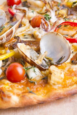 delicious italian seafood crust pizza macro