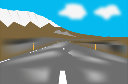 A snowy highway Illustration