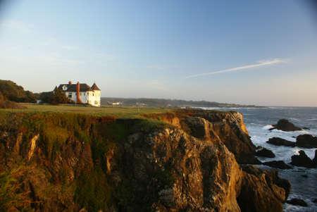 House on cliff coast Stok Fotoğraf