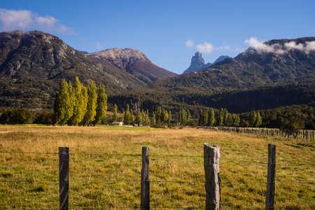 Landscape in Cerro Castillo in chilean Patagonia. The Andes range
