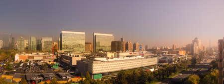 Panoramic of Santiago de Chile in las Condes, view of Parque Arauco luxury mall Editorial