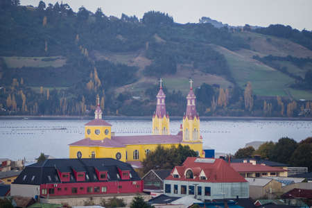 Church of San Francisco, Castro, Chiloe Island, Chile. Stock Photo