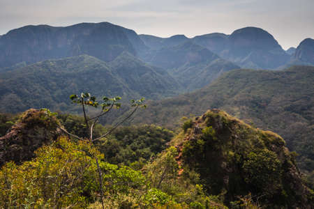Bolivia, Samaipata, Scenic views and landscapes of National Park Amboro. Jungle Stock Photo