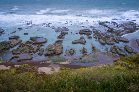 Coast in La Loberia in Argentina. Patagonia Stockfoto