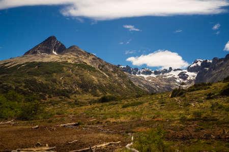 laguna esmeralda patagonia argentina ushuaia tierra del fuego, panoramic Banco de Imagens - 118817954