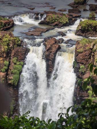 The amazing Iguazu waterfalls in Brazil and Argentina. Iguazu river Stock Photo
