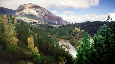 Landscape near Coyhaique, Aisen Region, South Road (Carretera Austral), Patagonia, Chile. forest