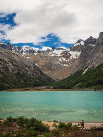 laguna esmeralda patagonia argentina ushuaia tierra del fuego, panoramic
