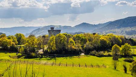 Arteaga Castle in the Urdaibai Biosphere Reserve, sunny day