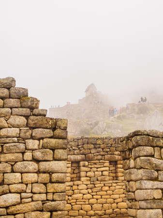 View of the Lost Incan City of Machu Picchu near Cusco, Peru..