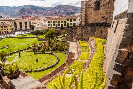 Inca remains inside the convent of Santo Domingo or Qorikancha. Museum in Cuzco Peru