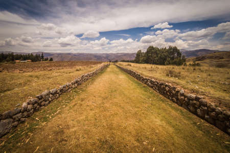 Ancient Inca Trail that left from the imperial city of Cuzco in Peru, Qhapaq Ã'an