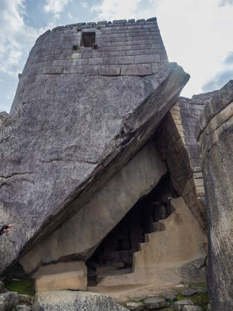 Detail of the Inca ruins of Machu Picchu in Peru near Cusco
