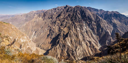 Colca Canyon from Cabanaconde in Peru. The deepest canyon on earth Фото со стока - 131992314