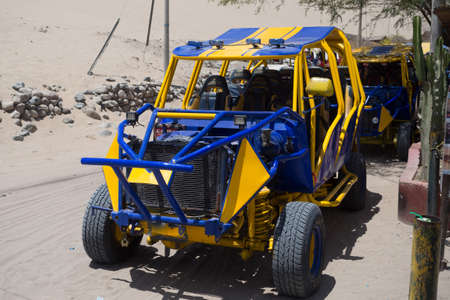 4x4 vehicle to travel the dunes of the Huacachina oasis in the city of Ica, Peru Фото со стока - 131749960