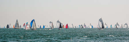Cowes June 29, 2019, the Island Race on the Isle of Wight Фото со стока - 132427116