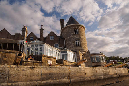 The castle of the Royal Yacht Squadron in Cowes, Isle of Wight