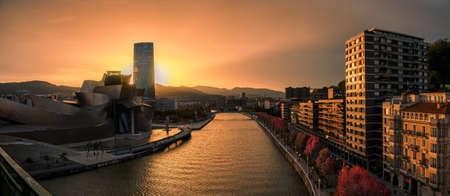 Sunset in Bilbao during the autumn Archivio Fotografico