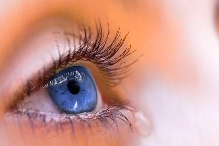 occhi tristi: blu visione