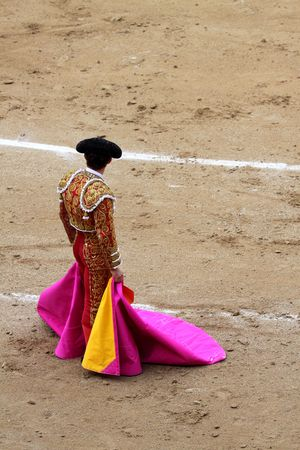 a bullfighter in a festival photo