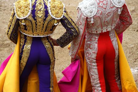 a bullfighter in a festival