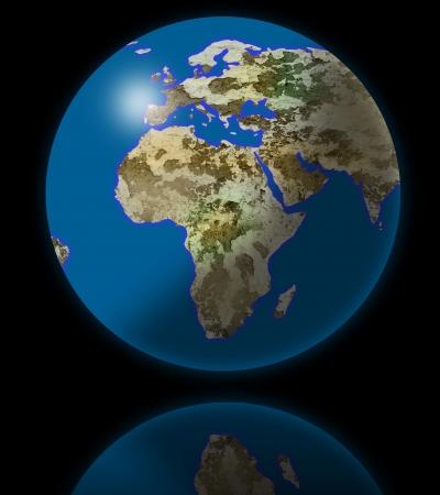 planisphere: earth globe Stock Photo