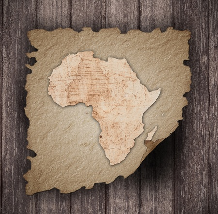 an old map of africa on an old paper photo