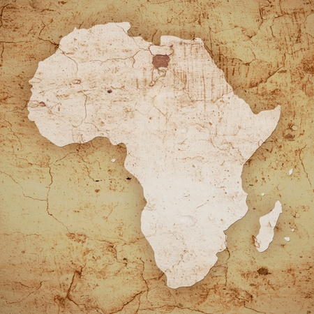 textured map of africa Stock Photo - 21821630