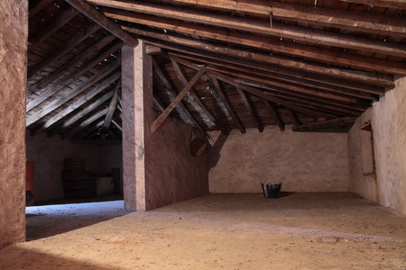 and abandoned and old attic