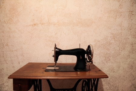 old and vintage sewing machine photo