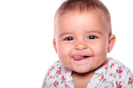 portrait of a beautiful baby smiling