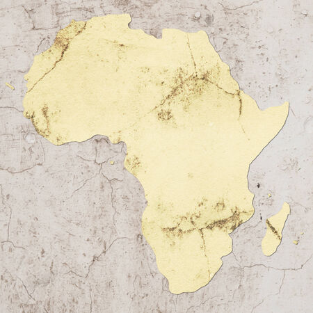 map of africa made with some textures photo
