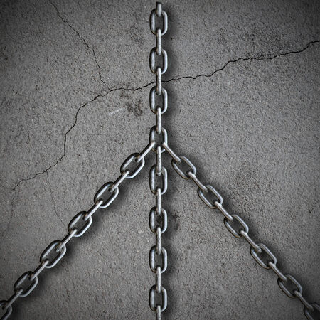 abstract background with chains photo