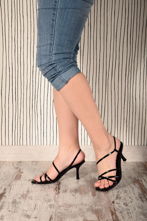 sexy legs of a beautiful woman photo