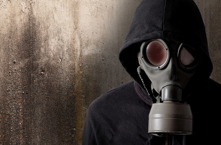 man with a gas mask Stock Photo