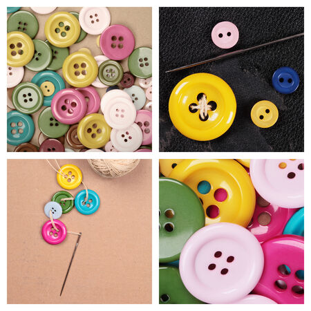 a collection with many buttons of different colors and sizes photo