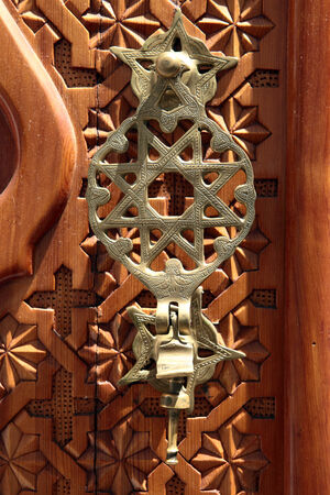 jewish star: jewish star on a synagogue door