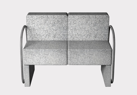 contradiction: 3D rendering of an uncomfortable stone armchair