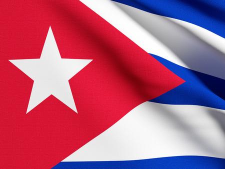 cuba flag: 3d rendering of a detail of a  Cuba flag Stock Photo