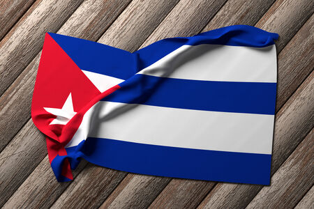 oppression: 3d rendering of a Cuba flag on a white background