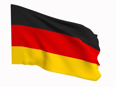 3D-weergave van een Duitse vlag