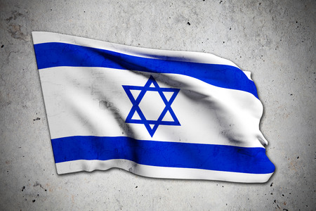 3d rendering of an old Israel flag photo