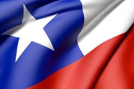 bandera de chile: 3d prestaci�n de una bandera de Chile Foto de archivo