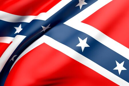 3d rendering of a detail old confederate flag photo