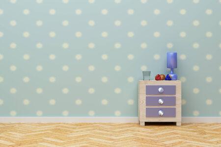 nightstand: 3d rendering of a beautiful children nightstand