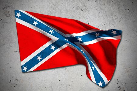 3d rendering of an old confederate flag photo