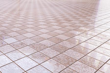 3d rendering of a bath tiles floor